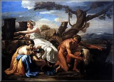 Zeus, Nymphs and Amalthea