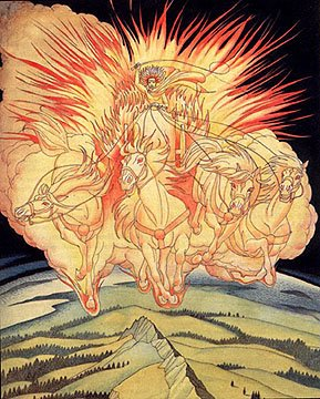 Myth Man's H... Helios Chariot Drawing